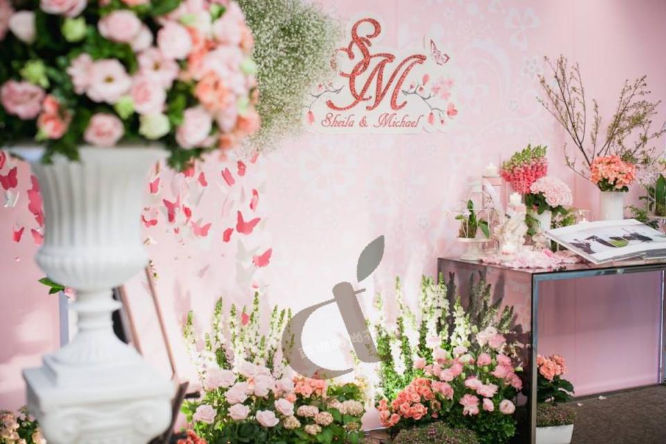 台北婚佈@艾美酒店 夢幻蝴蝶花園 婚禮佈置15.jpg