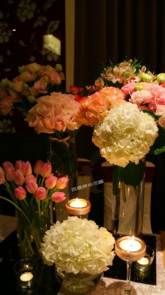 西堤時尚花藝 土城青青餐廳婚禮佈置1.jpg
