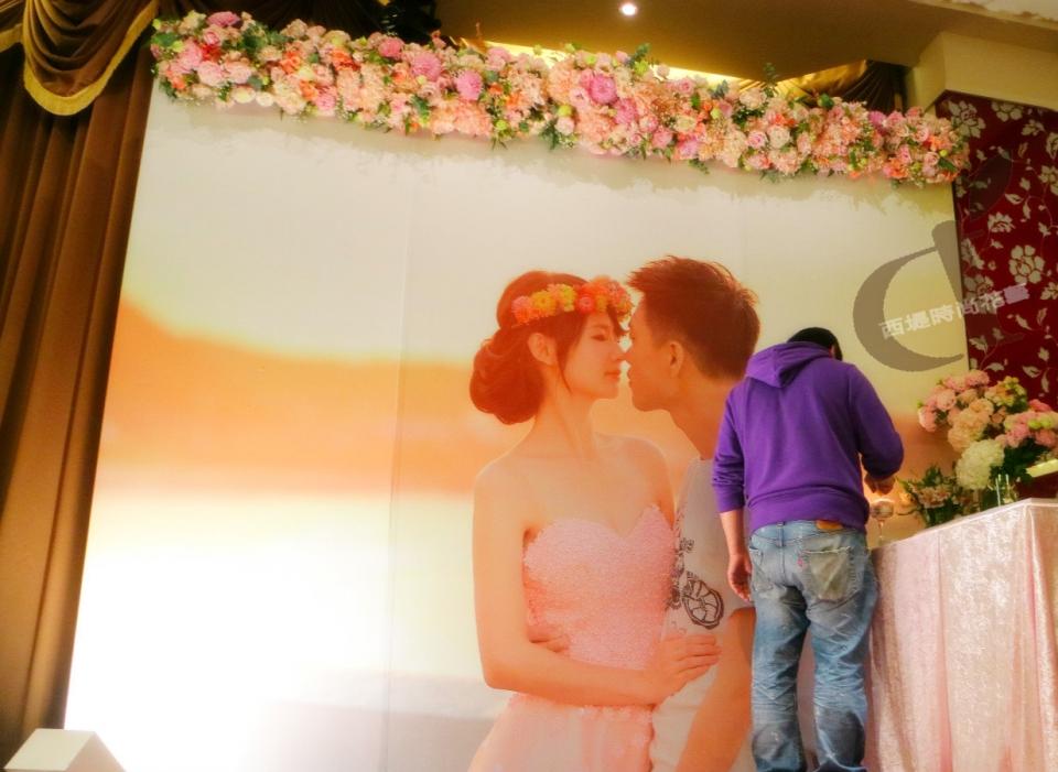 西堤時尚花藝 土城青青餐廳婚禮佈置8.jpg