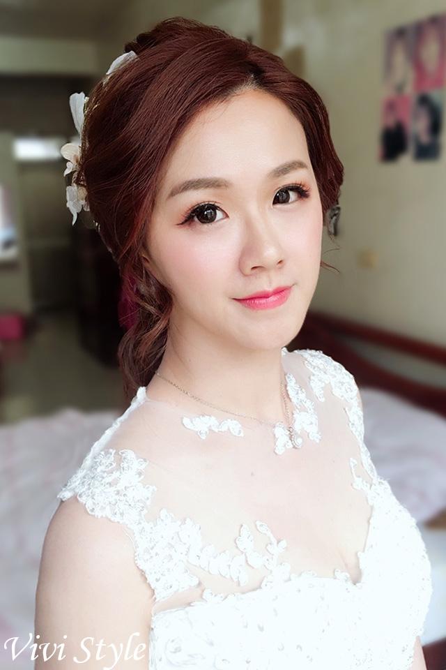 光澤肌,韓風妝感,仿真睫毛,白紗造型